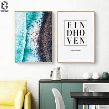 Scandinavia Coastal Wall Art Canvas Poster Print EINDHOVEN Netherlands Nordic Decoration Painting Decorative Picture