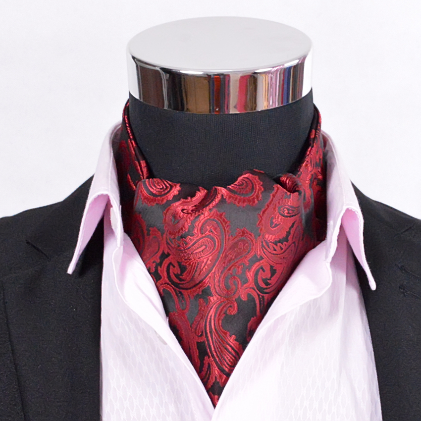 Apparel Accessories Efficient Paisley Satin Cravat Hot Sale Luxury Men Red Silk Cravat Big Size All-match Male Ties Cravat For Autumn Winter Red,blue,gold