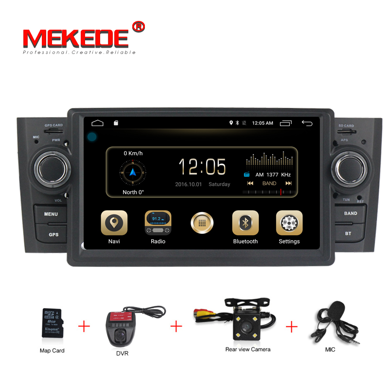 free shipping Android 7.1 Quad Core Car DVD radio stereo player for Fiat Linea 2007 2012 Grande Punto with GPS wifi 4G Lte BT