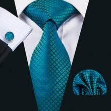 Men's Tie 100% Silk Jacquard Woven Necktie Hanky Cufflink Sets For Formal Wedding Business Party