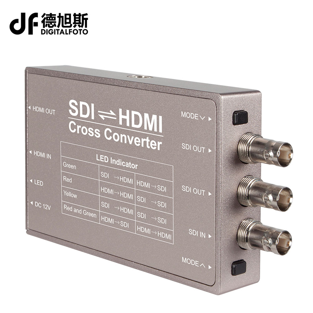 bilder für SEETEC HDMI zu SDI SDI-HDMI konverter Mini Broadcast Konverter Professionelle 3G-SDI Verbindungen SDI zu HDMI Konverter ETW