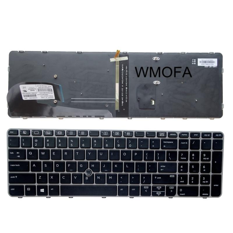 Uns grau neue englisch tastatur für hp elitebook 850 g3 755 g3...