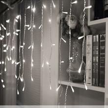 Luzes de natal ao ar livre decoração de largura 5 m/inclinação 0.4/0.5/0.6 m cortina de led luzes da corda icicle ano novo festa de casamento guirlanda