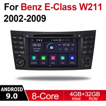 2 Din Car Multimedia Player Android 9 Auto Radio For Mercedes Benz E Class W211 2002~2009 NTG DVD GPS 8 Cores 4GB 32GB Bluetooth liislee for mercedes benz e class mb w211 2002 2009 car multimedia tv dvd gps radio carplay original style navigation navi