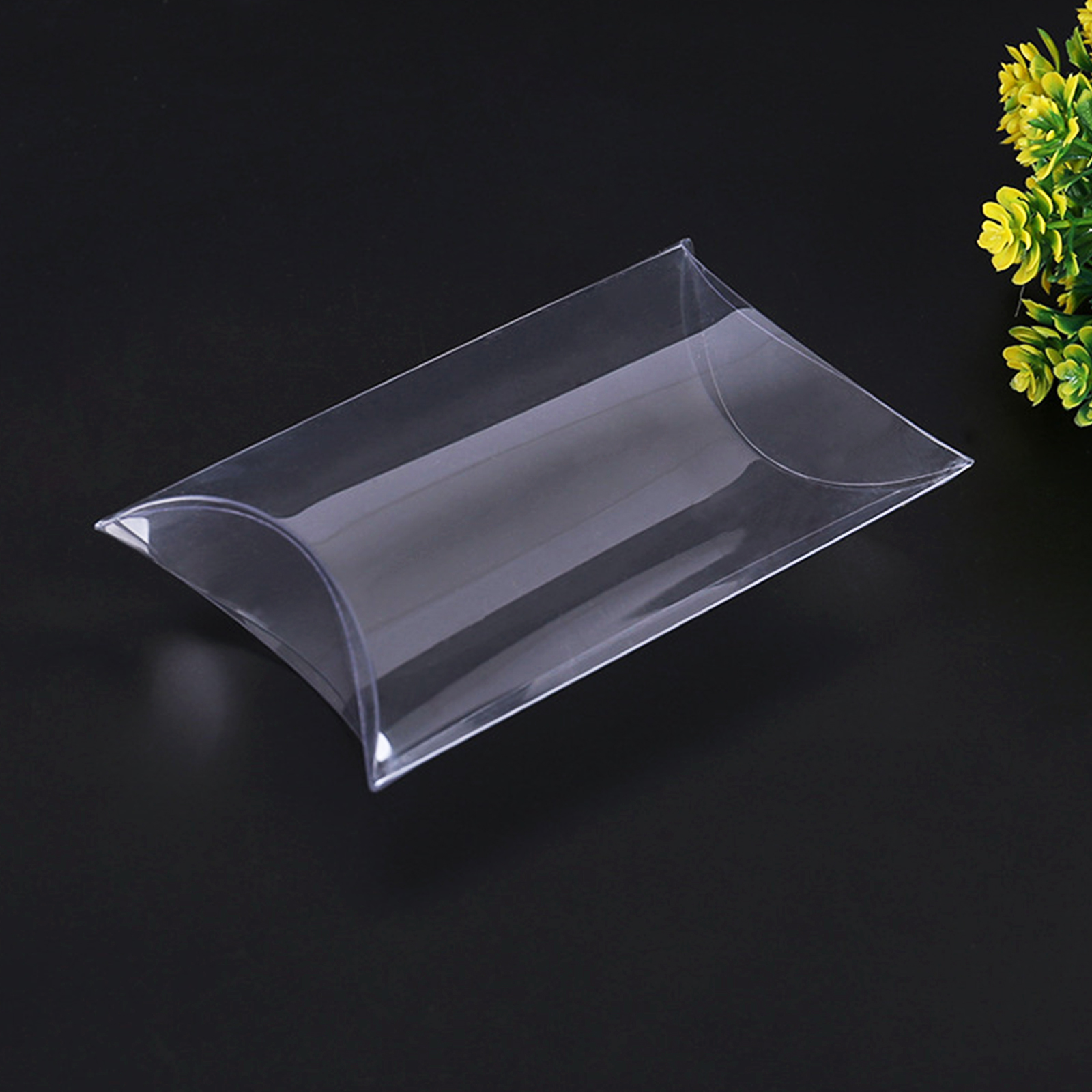 5pcs Wedding Favor Box Transparent Clear Pillow Rectangle Candy Box Chocolate Gift Box For Baby Shower Birthday Festival Party
