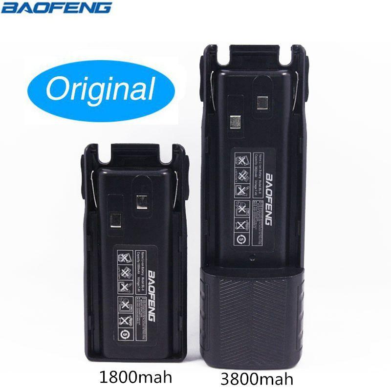 Original de BAOFENG UV-82 BL-8 7,4 V 1800 y 3800 mAh Li-Ion batería para Baofeng Walkie Talkie BF-UV82 serie de dos vías radio UV 82 Radio