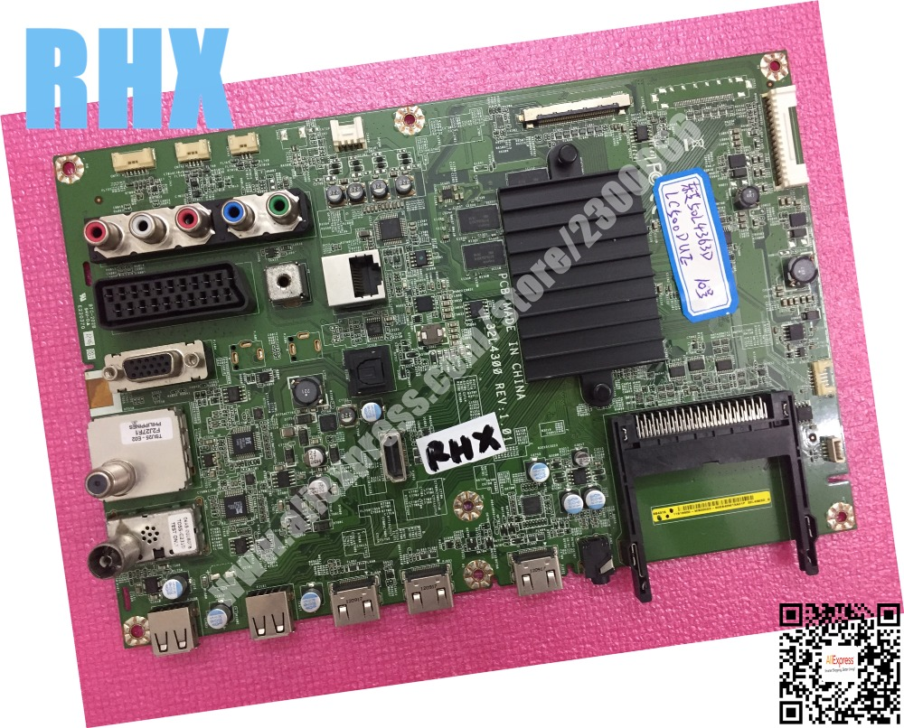 for 50 LCD TV mainboard 32L4363D _G 32L4300 LC500DUE V500HK1 is used lc 37hc40 lc 37hc56 cpt 370wf02c used disassemble