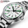 Karneval Luxus Marke Uhr Männer Quarz Männer Uhren Tritium Licht Leuchtende Uhr Männlichen Wasserdicht Military reloj hombre C8638 8|Quarz-Uhren|   -