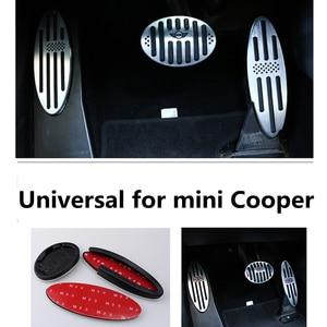 Image 4 - Auto Zubehör für R60 Mini Cooper S R55 R56 R60 R61 F54 F55 F56 F60 Aluminium Fußstütze Gas Bremse Kupplung pedal Abdeckung F56 F60 F55