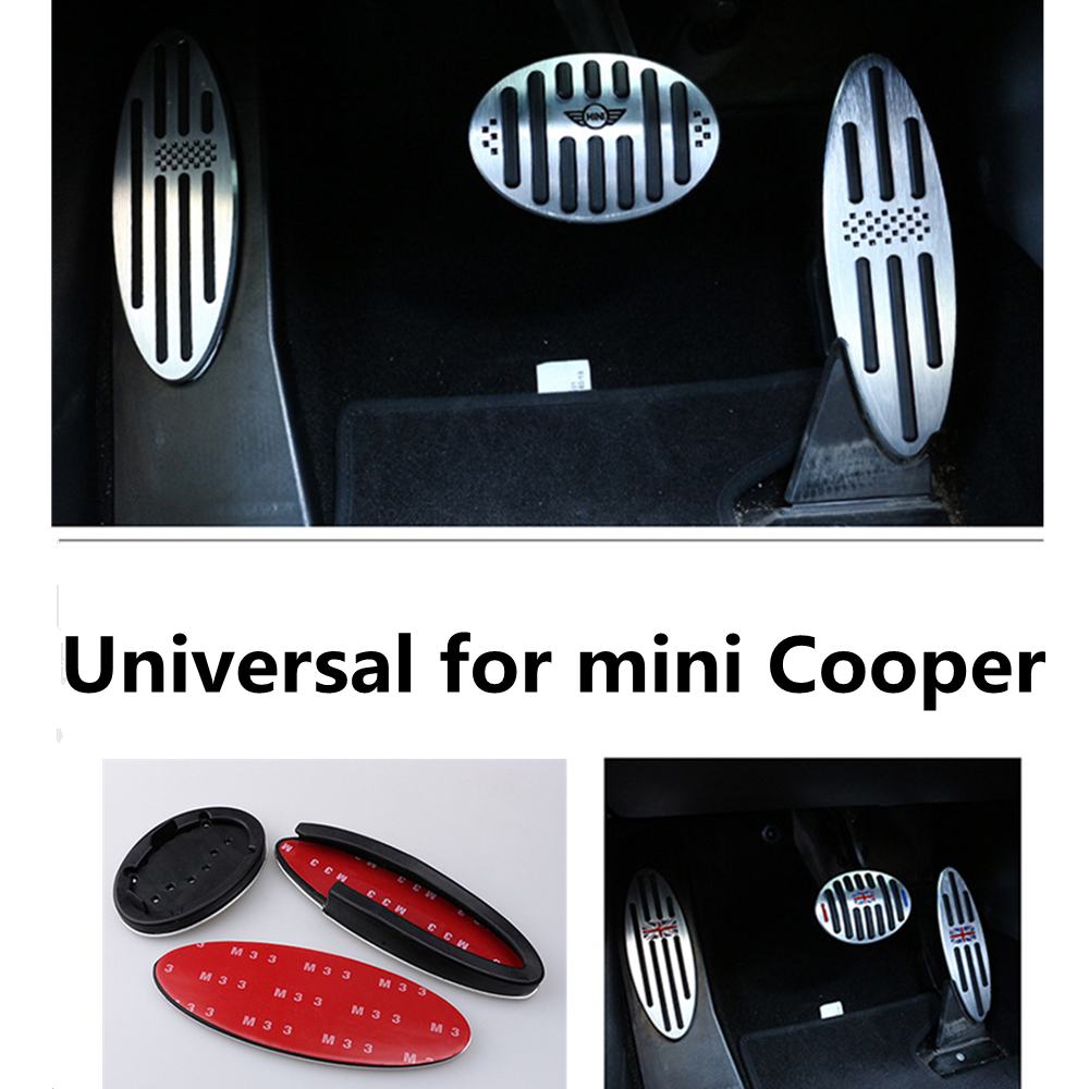 Image 4 - Car Accessories for BMW Mini Cooper S R55 R56 R60 R61 F54 F55 F56 F60 Aluminum Footrest Gas Brake Clutch Pedal Cover F56 F60 F55-in Automotive Interior Stickers from Automobiles & Motorcycles