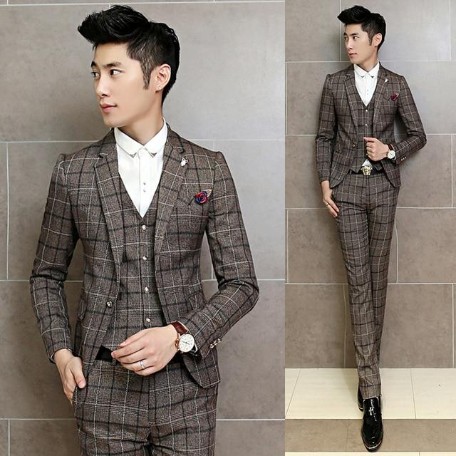Aliexpress.com : Buy Vintage Plaid Suits Mens Terno Dos Homens ...