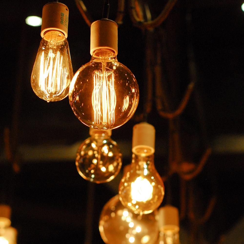 2017 Edison Bulb E27 220V 40W ST64 A19 T45 G80 G95 G125 Incandescent filament bulb lighting Retro Edison Light Bulb цена 2017