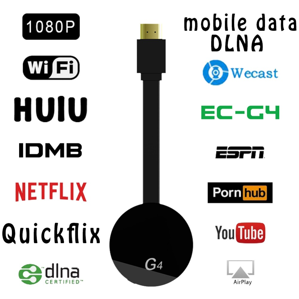 HDMI Wireless Display Wecast G4 for Android iOS YouTube Google Chrome Airplay Support 4G Cellular Data Casting Media Streamer-in TV Stick from Consumer Electronics on Aliexpress.com | Alibaba Group