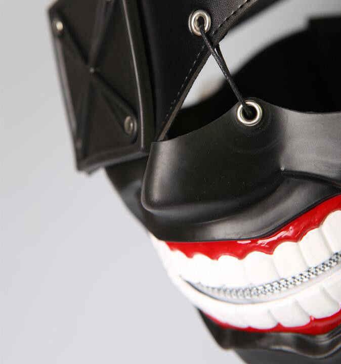 Аниме, Токио, вампиры Ken Kaneki черный резиновый Пластик маска из искусственной кожи Косплэй реквизит мужские Для женщин Коллекционная аксессуары маски подарка