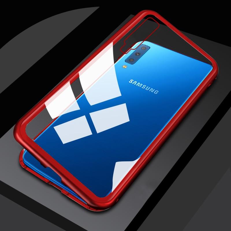 Magnetic Flip Case For Samsung Galaxy A7 A9 A8 2018 S10+ Case Cover For Samsung Galaxy S10e Lite S8 9 S7 Edge J8 J6 J4 Plus