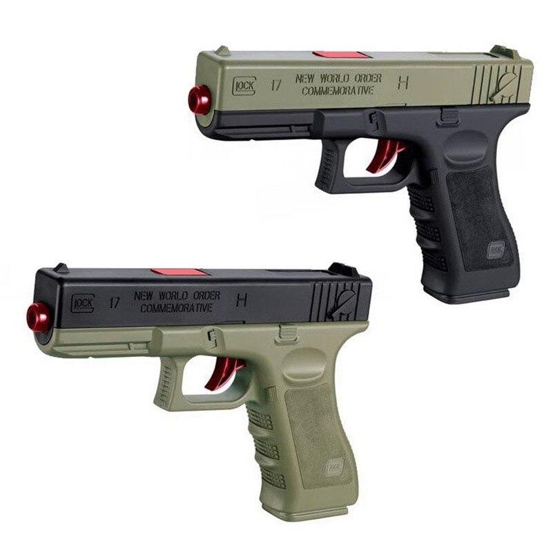 1 шт. Пластик воды пули игрушки пистолет с оригинальной коробке мягкий пистолет безопасной эксплуатации работает пушка 18 м огнестрельные ди...