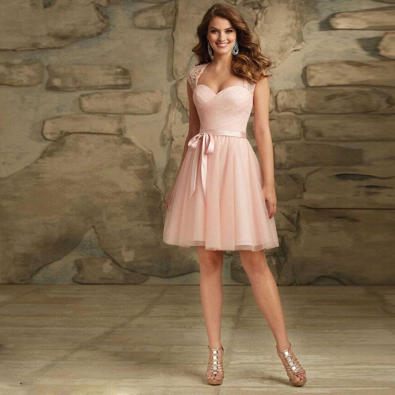 af57943dd101b 2016 nueva moda corto de baile rosa Sashes longitud de la rodilla vestidos  fiesta de encaje elegante importado vestido de fiesta Louisvuigon mujer en  ...