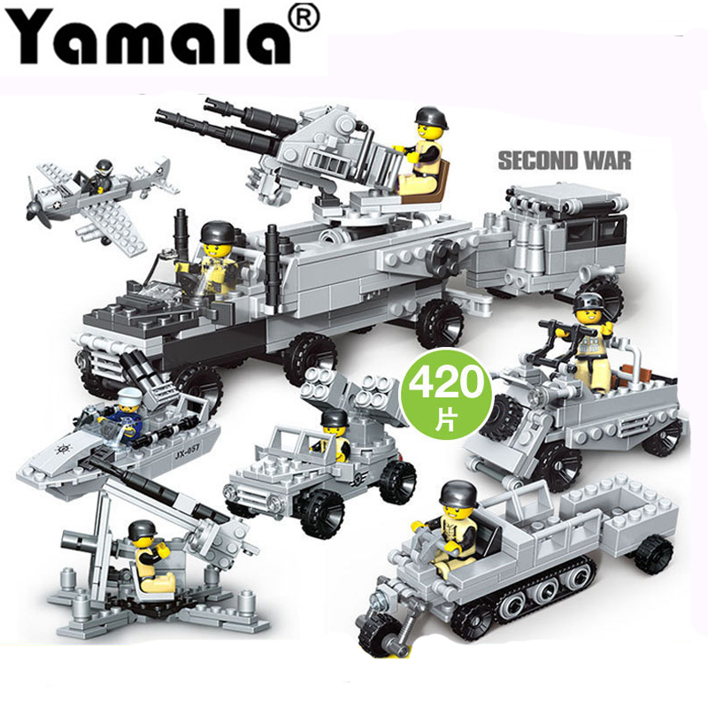 [Yamala]SWAT Military Figure World War II Marine Corps Army Soldiers Special Forces Building Blocks Set Compatible With LegoING world war ii germany military army soldiers commander minifigures with weapon brick toy d161 legoes compatible