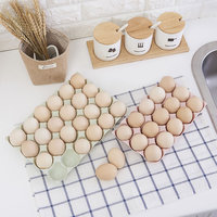Storage Box 24 and 15 Bar Wheat Straw Egg Preservation Box Can Be Stacked with Egg Box Convenient Make Up Organizer Food Storage