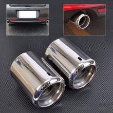 DWCX 2x NEW STAINLESS STEEL EXHAUST TAIL REAR MUFFLER TIP PIPE For 2009 – 2012 2013 2014 Mazda 6 ATENZA 2013 2014 Mazda CX-5