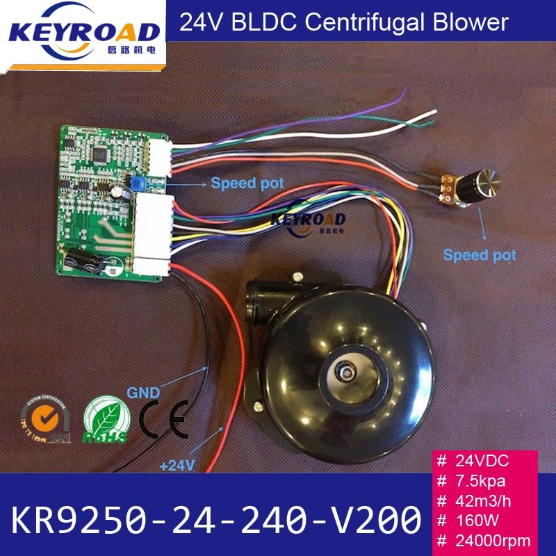 24v 42m3 / h 120W 22000rpm三相ブラシレスDC強力ファン/ - パワーツール - 写真 2