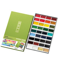 Kuretake Watercolor Paint Set 12/18/24/36 Solid Watercolor Pigment Paint Acuarelas Profesionales Painting Beginners Art Supplies
