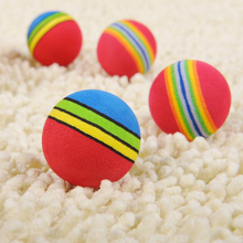 Hot Sale 1 Pieces Colorful Pet Cat Kitten Soft Foam Rainbow Play Balls Activity Toys Funny