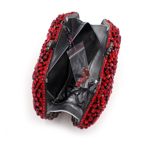 XIYUAN BRAND Diamond Crystal Mini Evening Party Bag Women Day Clutches Ladies Chain red Clutches Purses Handbag shoulder bags