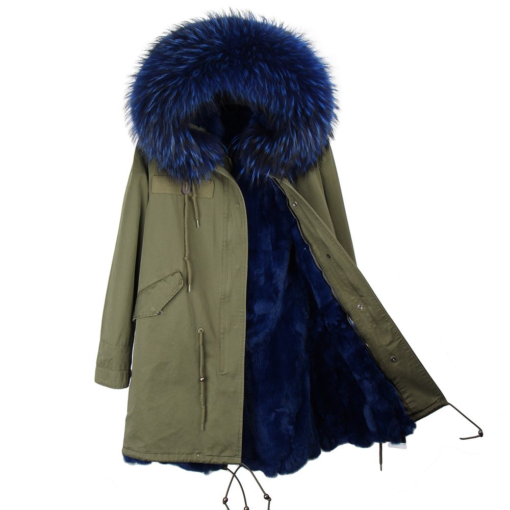 Fashion Women's Winter Wadded Jacket Coats Medium-long Fur Overcoat Rabbit Hair Liner Long Sleeve Outwear Female Casual Parkas new 2017 winter hooded jacket women cotton wadded overcoat medium long slim casual fashion parkas female denim blue coats cm1509