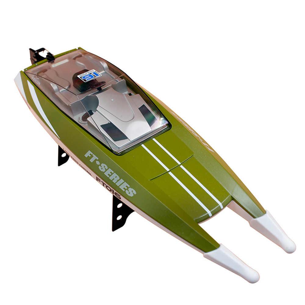 Ban đầu RC Thuyền FT016 2.4G 30 km/h Tốc Độ Cao RC Đua Thuyền Nước Làm Mát Lộn Tự-thăng bằng Chức Năng đồ chơi cho Trẻ Em