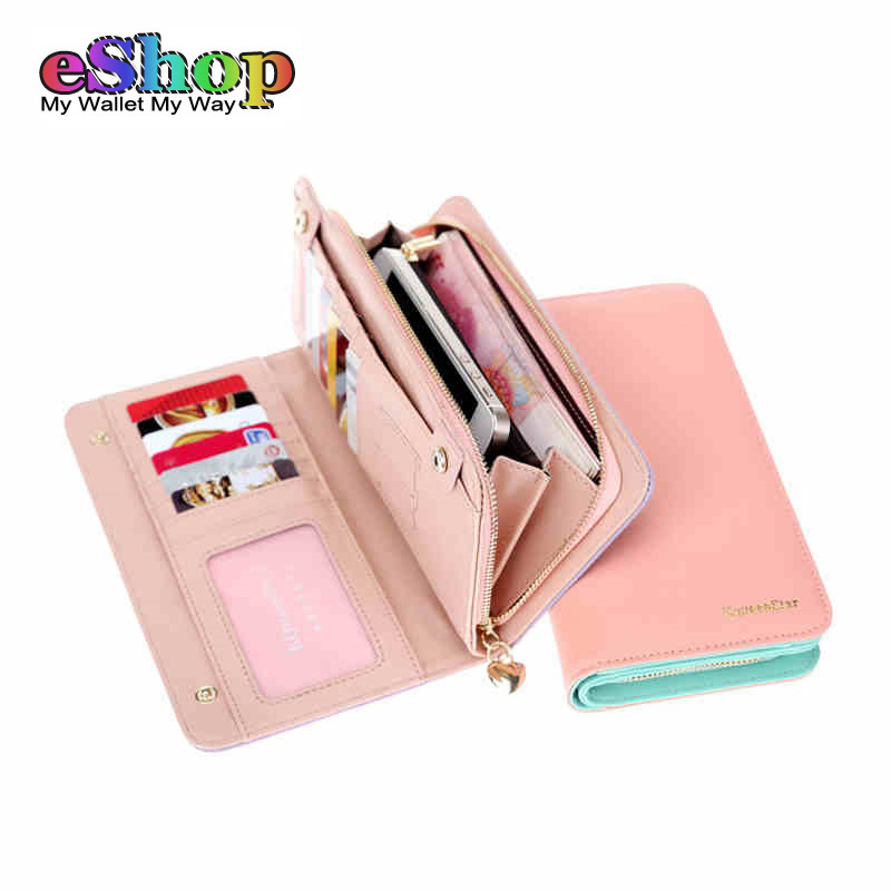 KQueenStar Brand New Fashion Women Wallet PU Leather Womens Clutch Wallets Long Style Designer Female Wallets and Purses