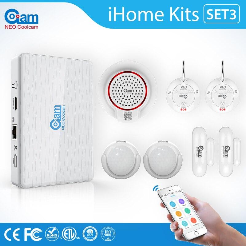 IHome Kits Set3 Sans Fil IOS/Android APP Contrôle Maison Intelligente Domotique Porte/Fenêtre Contact Protection de Sécurité D'alarme système