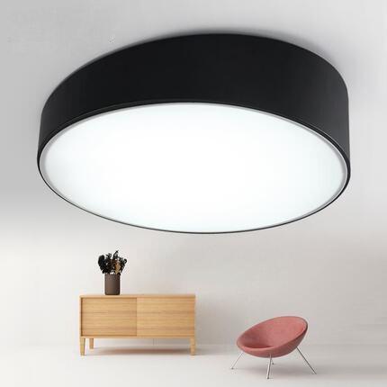 Plafond moderne à LEDs lumières acrylique rond blanc/noir abat-jour blanc/lumière chaude pour salon luminaire éclairage intérieur