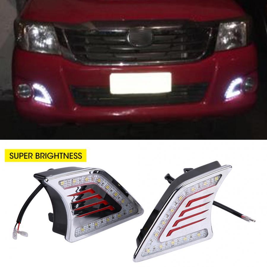 Daytime Running Light 1 Pair Car Daytime Running Light DRL LED Daylight Fog Lamp