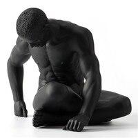 Искусство тела современный обнаженный мужской статуя Смола ремесленник европейский домашний декор креативный подарок L3138