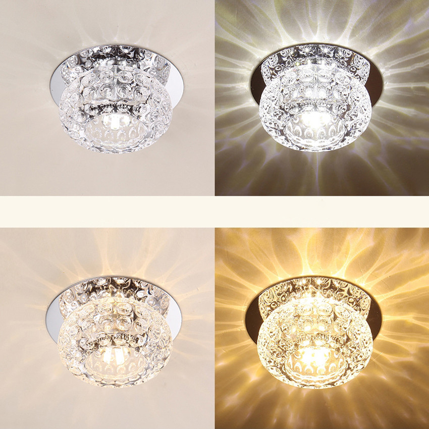 Crystal Ceiling Lights | Crystal Flush Mount Light | Modern Simple Crystal Ceiling Lamp Bedroom Living Room Decorative Lighting Ceiling Light 3W 5W LED AC110V 220V BL95
