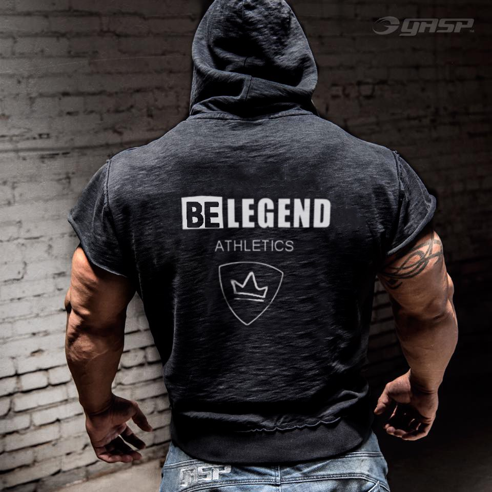 Brand Gyms Clothing Fitness Men Tank Top with hooded Mens Bodybuilding Tank Tops workout Men 39 s tank top black grey Cotton top in Tank Tops from Men 39 s Clothing
