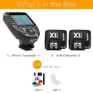 Image 2 - Godox Xpro N Zender Met 2Pcs X1R N Ontvanger Ttl 1/8000S Hss High Speed Sync 2.4G Wireless Flash Trigger Voor Nikon Camera S