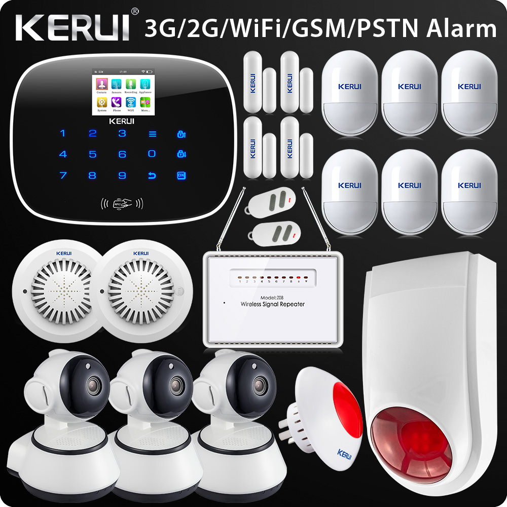 New Arrival 2017 W193 3G WIFI PSTN GSM Home Burglar LCD Touch Screen Alarm Panel Home Security Alarm System 2017 new arrival broadlink s1c s1 smartone alarm