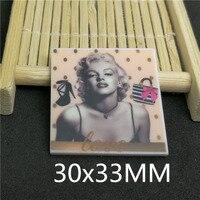 Free shipping 30x33MM 100pcs/lot movie cartoon character planar resin