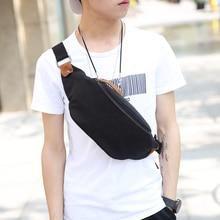 Tidog新しいキャンバスポケット胸パック韓国男性チェストバッグ