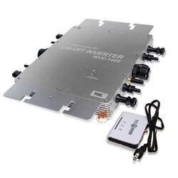 Impermeabile 1400 W MPPT Legame di Griglia Micro Inverter Solare, 22-50VDC per 80-260VAC, con Funzione di Comunicazione Senza Fili,