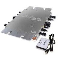 Impermeable 1400 W MPPT rejilla Micro inversor Solar, 22-50VDC a 80-260VAC, con función de comunicación inalámbrica,