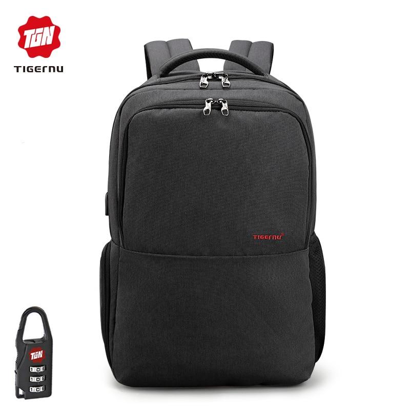 Tigernu 2018 Новое поступление Противоугонный usb зарядка влагозащищенный многоцелевой ноутбук компьютер рюкзак школьные повседневные сумки ...