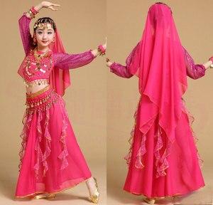 Image 5 - Trẻ em Cô Gái Trang Phục Múa Bụng Trẻ Em Trẻ Em Bụng Nhảy Múa Cô Gái Bollywood Ấn Độ Hiệu Suất Vải Thiết Lập Thủ Công Cô Gái Ấn Độ Quần Áo