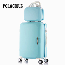 New 20″22″24″26″ Eight-color ABS trolley luggage rolling baggage units youngsters journey bag case suitcase for women valise enfant