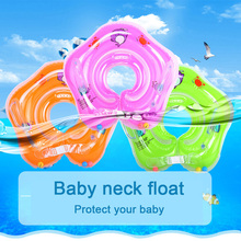 Pools-Accessories Bathing-Circle Safety-Neck-Float Inflatable-Wheels Baby Swimming Newborns