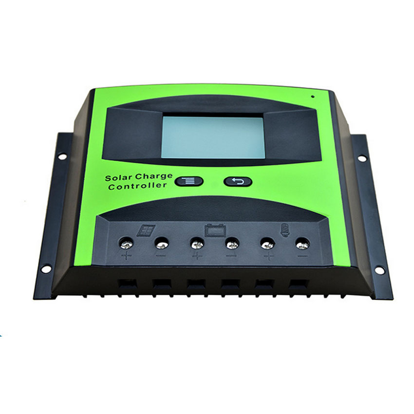 Régulateur solaire de Charge de panneau de cellules solaires d'affichage à cristaux liquides de contrôleur solaire de 50A 60A 48 V PWM pour le système solaire à la maison de 500 W 1000 W