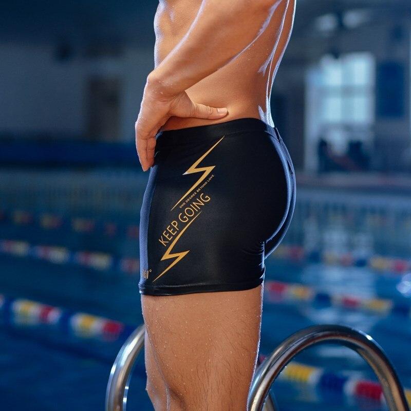 361 Plus Size Men Swimming Trunks Pool Black Tight Swim Shorts Men Swimwear Boy Swimsuit Male Swimming Pants Quick Dry Bather in Men 39 s Trunks from Sports amp Entertainment