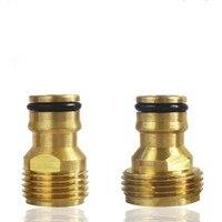1/2 3/4 Male Tap Connector Water Gun Nozzle Garden Sprinkler Accessories Brass Quick Connector Hose End Connectors